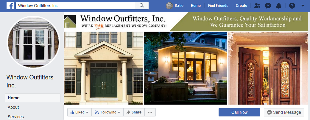 Screen capture of Facebook page
